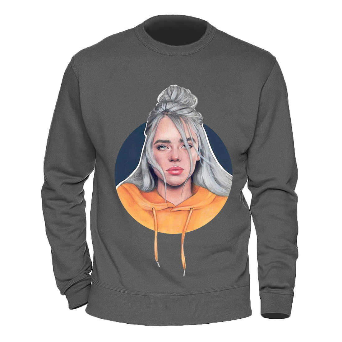 패션 빌리 Eilish 남자 후드 티 스웨터 망 스트리트 트렌드 만화 여자 까마귀 남성 캐주얼 후드 티 스웨터 2020 옷