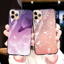 Phone Case For iPhone SE 2020 Case Tempered Glass Cover For iPhone 11 Pro Max XS X XR 6 6S 7 8 Plus Case Cover 11Pro 7plus 8plus privacy tempered glass magnetic case for iphone 11 pro max xs max xr x 8 7 6s 6 plus se magnet metal bumper anti peeping cover