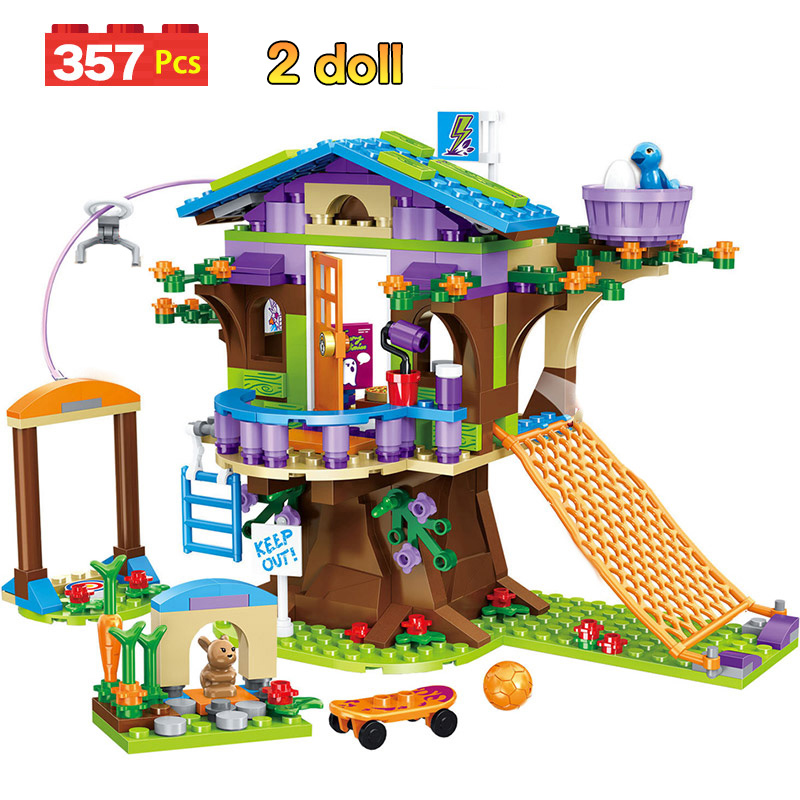 357pcs Mia's Tree House Building Blocks Compatible Legoinglys Girls Friends Stacking Bricks Figures Toys For Children GB02