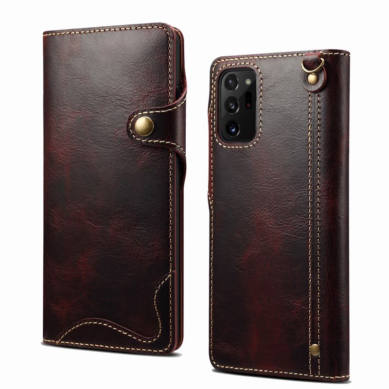 Wallet Case For Samsung Galaxy S21 Ultra 5G Note 20 S20 Plus S8 S9 S10E S10 S 10 8 9 Luxury Original Genuine Leather Flip Cover