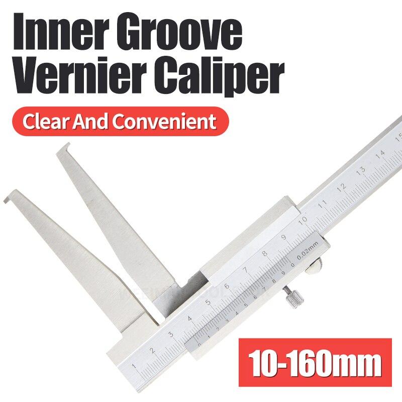 10-160 мм внутренняя штангенциркуль для измерения пазов внутренний штангенциркуль Нержавеющаясталь длинный коготь для внутренней Диаметр и...