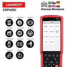LAUNCH X431 CRP429C OBD2 код ридер Поддержка двигателя/ABS/Подушка безопасности/AT+ 11 сброс услуги CRP 429C Авто диагностический инструмент