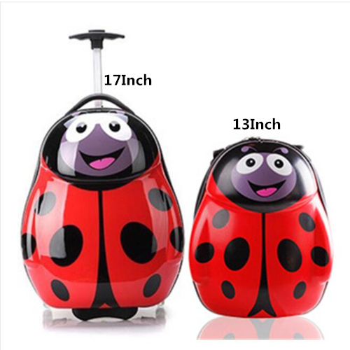 3D Animals Children Backpack Cartoon Wheeled Luggage Suitcase/ABS PC Travel Trolley Suitcase/kid Wheeled Bag  Travel Luggage