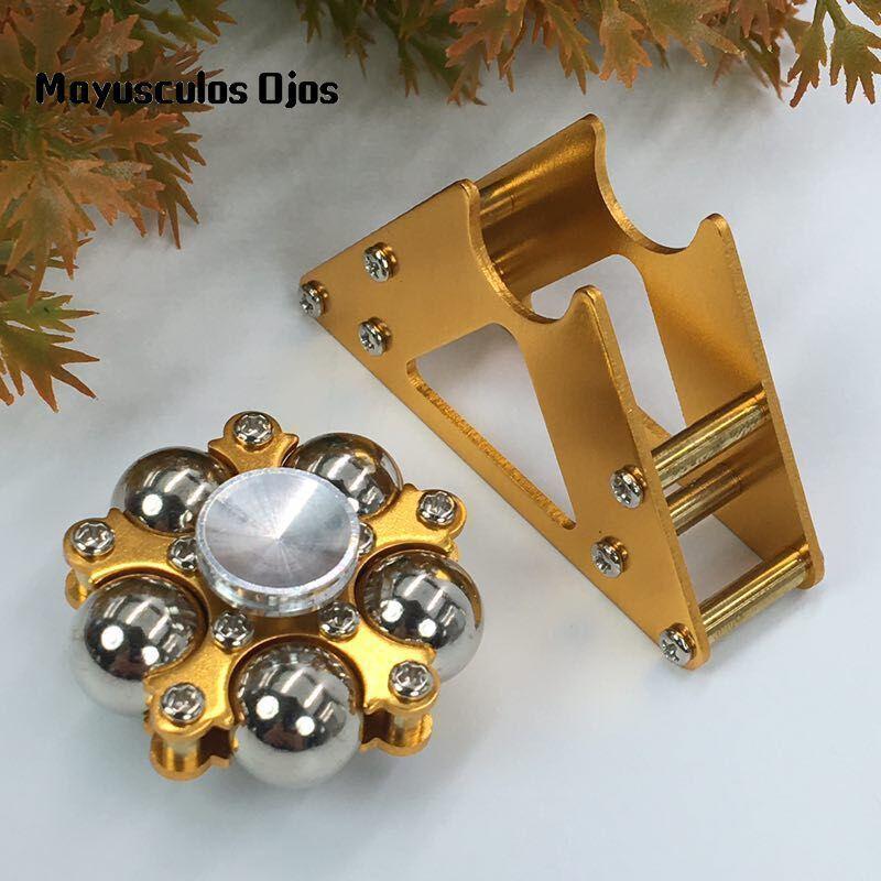 1PC Metal Five Bead Ferris Wheel Fingertip Gyroscope Stainless Steel Ball Bracket Finger Gyro Fidget Spinner