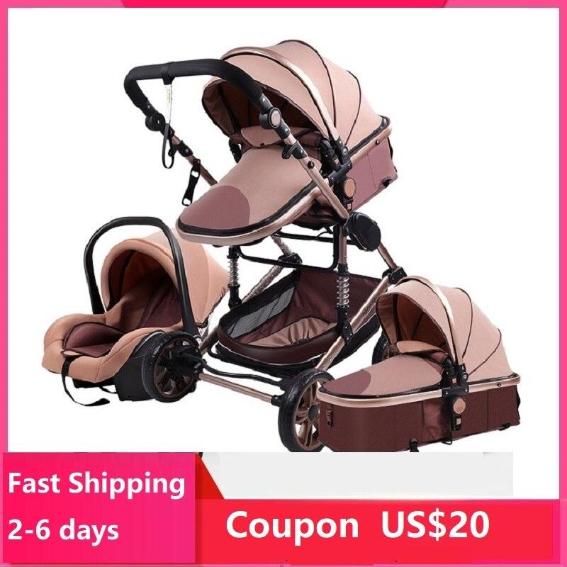 Carrinho de bebê 3 em 1 luxo guarda-chuva bebê recém-nascido carrinhos alta paisagem dobrável carrinhos de bebê carrinho de bebê carrinho de bebê