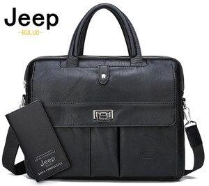 JEEP BULUO мужской портфель большой размер сумки для ноутбука Бизнес Дорожная Сумка офисная деловая мужская сумка для файлов А4 Сумка-тоут
