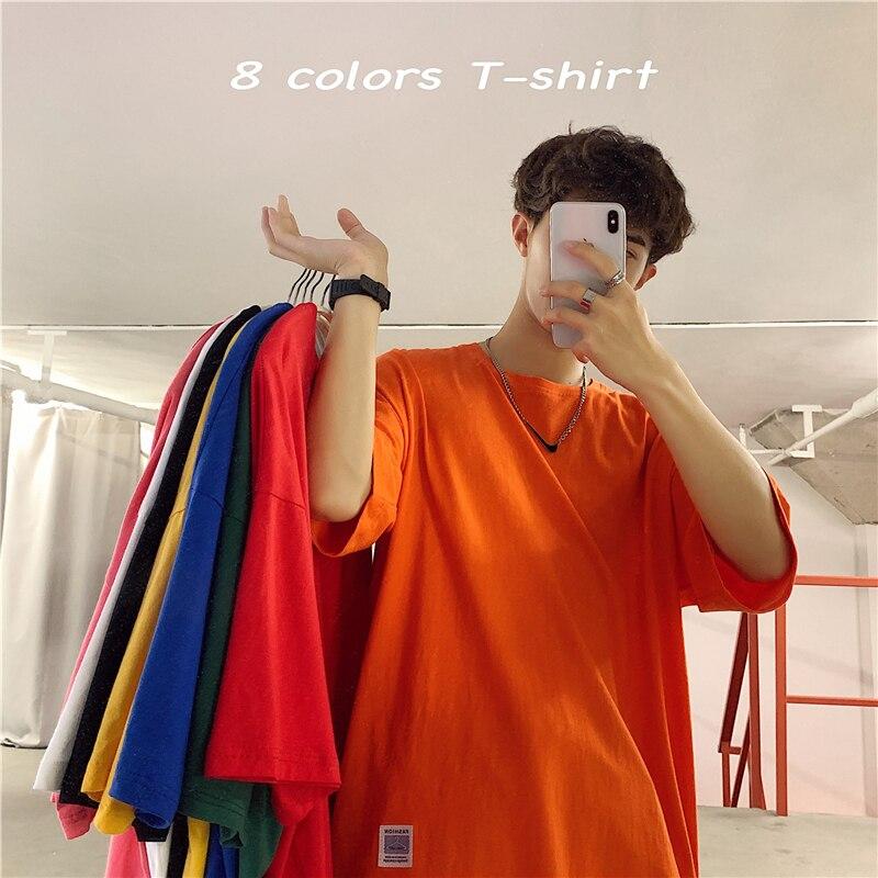 New Summer Mens Casual T Shirt Streetwear Clothing Man's Loose T-Shirts Tops Play Tees Take A Walk Round