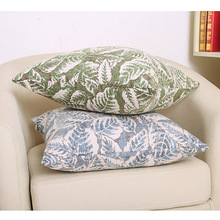 Modern Countryside Pillow Cover Plant Leaf Pattern Printing Throw Cushion Home Living Room Bedside Art Decor Drop Shipping
