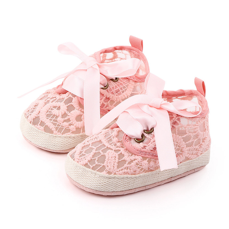 Cotton Baby Shoes Breathable Summer Newborn Baby Girl Shoes Soft Sole Non-Slip Infant Toddler Girls Shoes Schoenen Slofjes