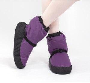 Image 3 - Kış bale ulusal dans ayakkabıları yetişkinler için Modern dans pamuk ısınma egzersizleri isıtıcı balerin çizmeler
