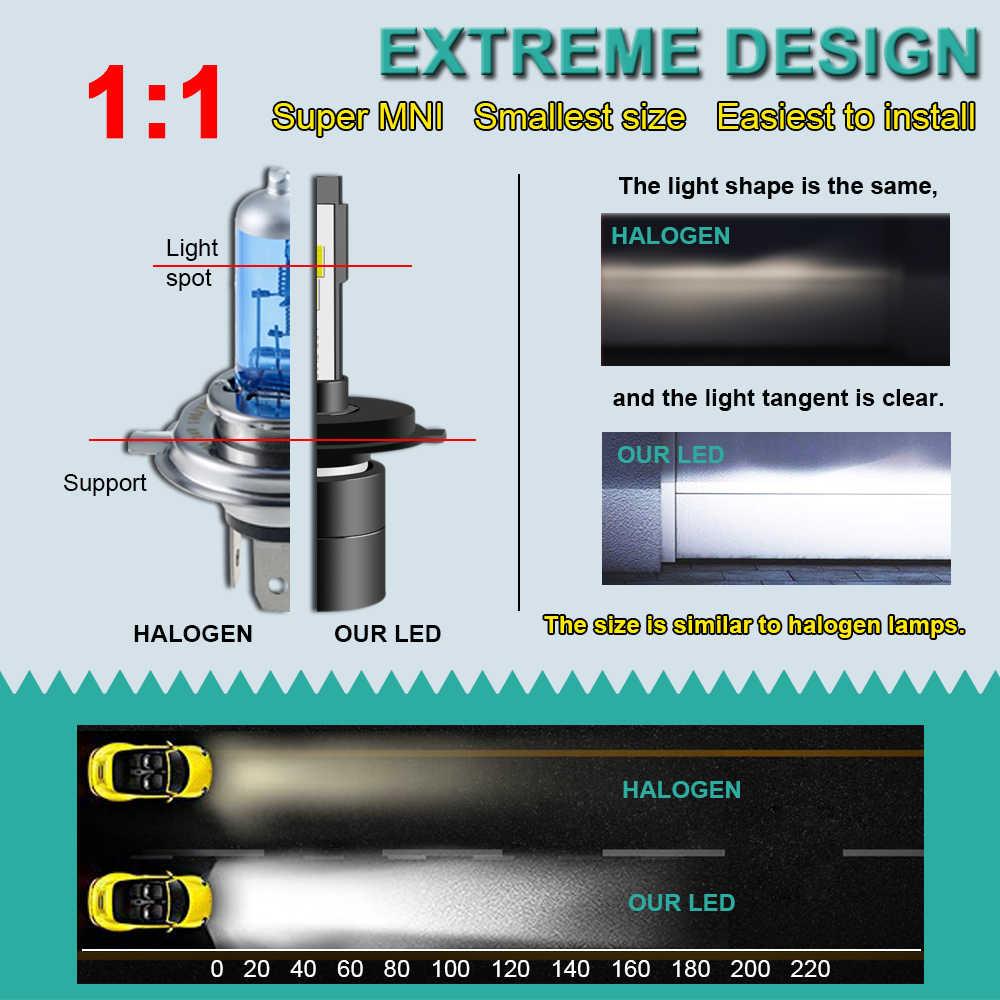 1 חתיכה H4 H7 HB4 H11 HB3 H1 רכב LED פנס נורות 60W 9005 H8 H27 H3 9006 5202 CSP סופר מיני ערפל אור פנס 12V 8000LM