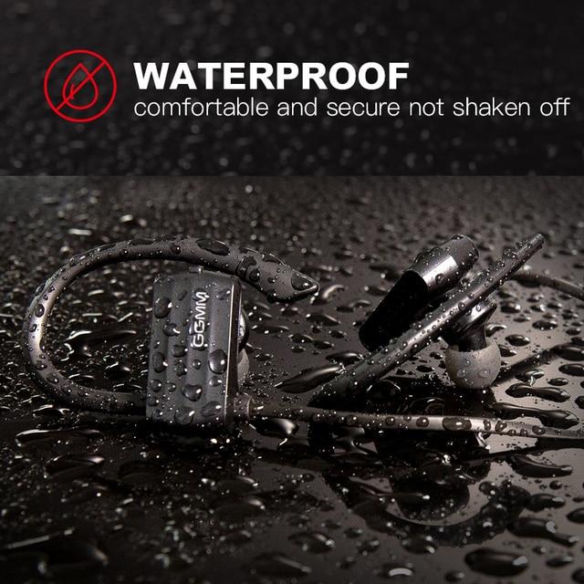 GGMM W600 אלחוטי אוזניות Bluetooth ספורט עמיד למים אוזניות עם מיקרופון רעש מבטל ריצת Sweatproof