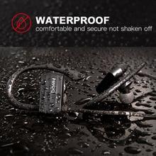 Ggmm W600ワイヤレスヘッドフォンbluetoothスポーツ防水イヤホンとマイクノイズキャンセルを実行しているsweatproof