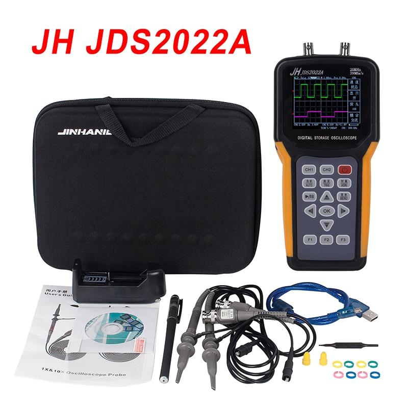 Portable oscilloscope JDS2022A 20MHz Bandwidth 2 channel Handheld Digital Oscilloscope 200MSa/s Sample Rate