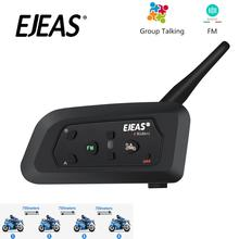 EJEAS V4 Pro Intercom Moto Helm Bluetooth Headset 850mAh 4 Menschen Cascos Inalambricos Lautsprecher Wasserdicht FM Radio