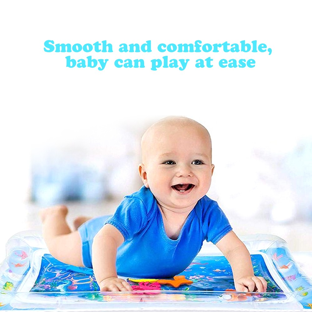 H486b1374ef8c444285ab6b86071ac328P Baby Kids Water Play Mat Toys Inflatable PVC infant Tummy Time Playmat Toddler Activity Play Center Water Mat Dropshipping