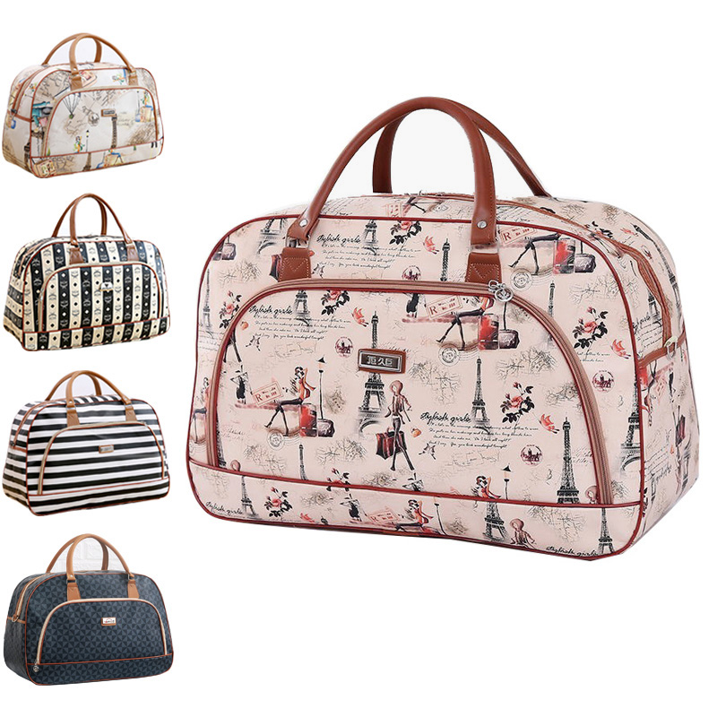 Large Capacity Leather Women Travel Bags Hand Luggage Duffle Bag Travelling Bags And Luggage For Women Weekend Overnight Handbag