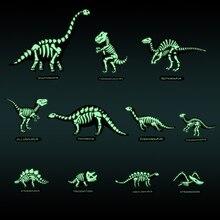 купить Dinosaur Fossil Wall Sticker Glow In The Dark Kids Room Decoration Gift PVC Stickers Phosphorescent Wall Decor 3D Wall Stickers по цене 599.86 рублей