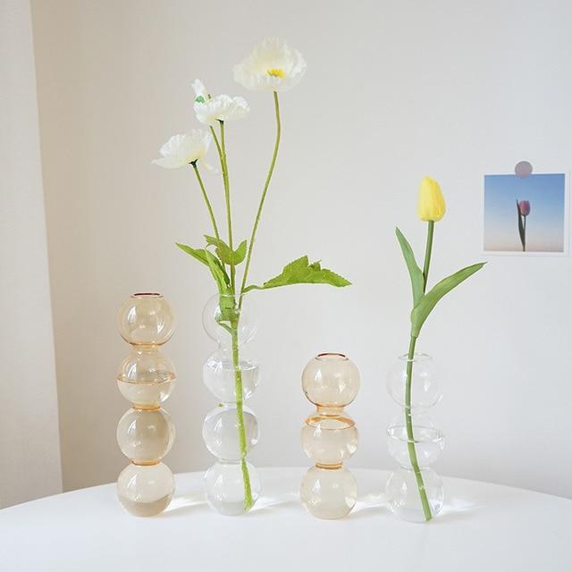Vase en verre de décoration intérieure, Vase en cristal, plantes hydroponiques modernes, frais européens pour mariages, événements, fêtes créatives 2