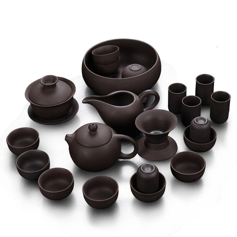Ev ve Bahçe'ten Çay Takımı Setleri'de Kung Fu çay var olacak seti grubu klasik Xi Shi su ısıtıcısı üç yetenekleri kasesi yüksek arşivler hediye kutusu title=
