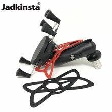 Jadkinsta Base de eje de horquilla con bola de 1 pulgada, brazo de doble toma, soporte Universal de agarre X para teléfono móvil