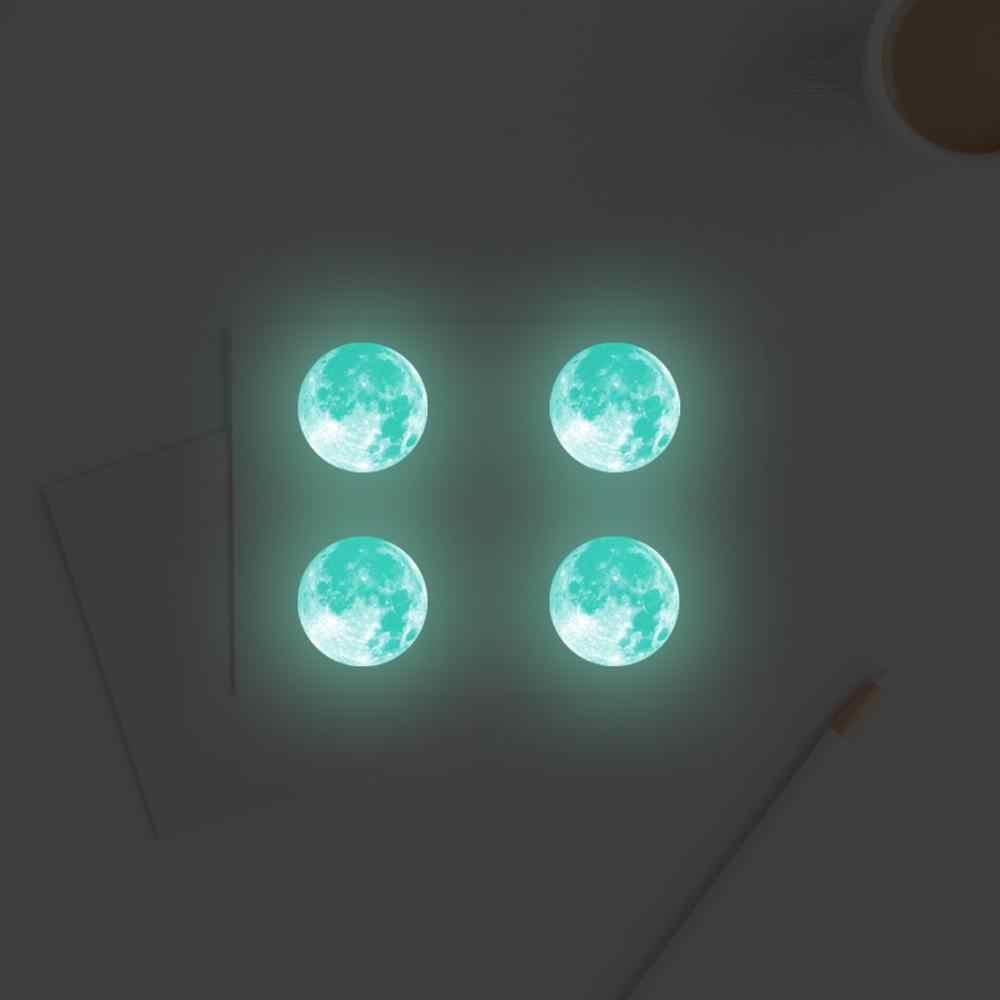 Lua luminosa adesivo de parede diy 3d adesivos de parede para quarto das crianças brilho no escuro decoração da sua casa sala estar