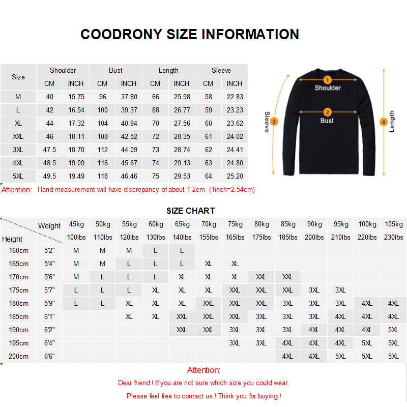 ╝Ultimate DealCOODRONY T-Shirt Men Turn-Down-Collar Long-Sleeve Tops Bottoming Homme Casual C5004 Teeì