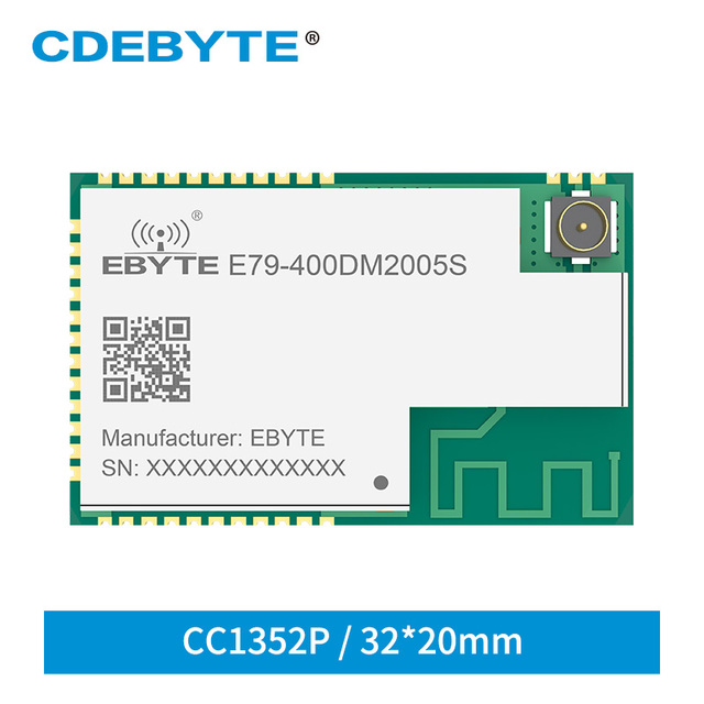 E79 400DM2005S CC1352P SUB 1GHz 2.4GHz SMD IoT 송수신기 20dBm 5dBm IPEX 무선 모듈