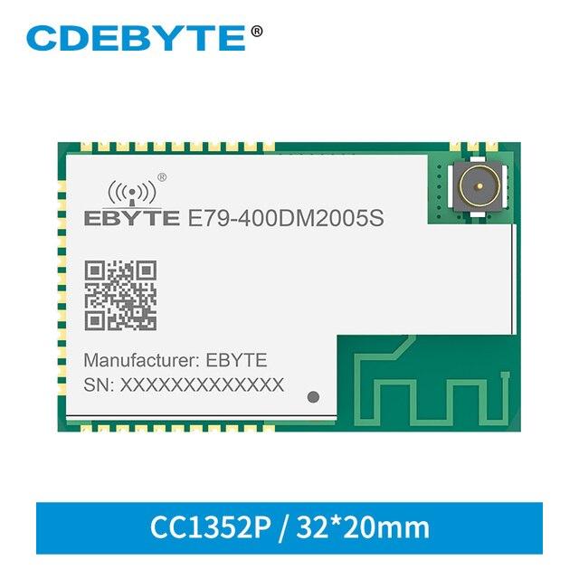 E79 400DM2005S CC1352P SUB 1GHz 2.4GHz SMD IoT Ricetrasmettitore 20dBm 5dBm IPEX Modulo Senza Fili