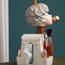 Creative Nordic Modern Light Luxury Bubble Girl Tissue Box Ornaments Gathering Living Room for Girlfriend Wedding Gift