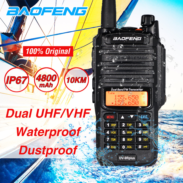 2020 10W Baofeng UV 9R plus Waterproof Walkie Talkie UV 9R Plus Dual Band Portable CB Ham Radio 10KM hf transceiver Transmitter