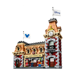 Image 3 - J11001 Disneys train and Station Building Blocks Bricks Compatible with lepingl 71044 Educational Toy for Children birthday Gift