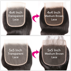 Image 5 - UNICE HAIR Transparent Lace Closure With Malaysian Body Wave 3/4 Bundles with Lace Closures With Remy Hair Human Hair Bundles