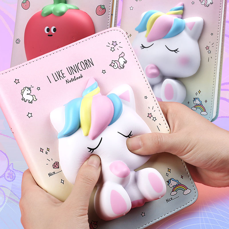 Yiwi 3D Unicorn Decompression Notebook Bunny Student Planner  Color Pages Diary With Gifts Packing
