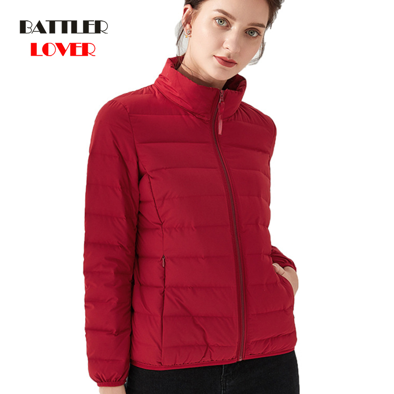 Women Winter Down Coat 2019 New Ultra Light White Duck Down Jacket Slim Womens Winter Puffer Jacket Portable Windproof Down Coat