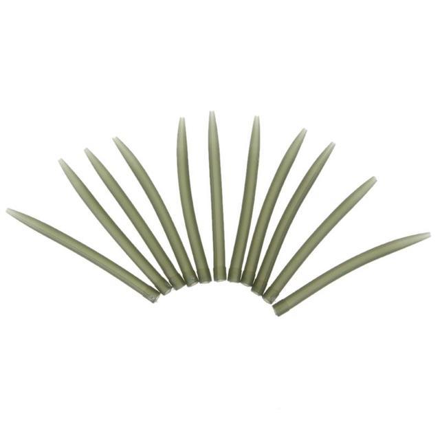 20/50/100 rurka tulei wędkarskiej Hair Rig Aligner Sleeves miękki zapobiegający plątaninie pozycjoner Terminal Tackle Carp Fishing Accessories