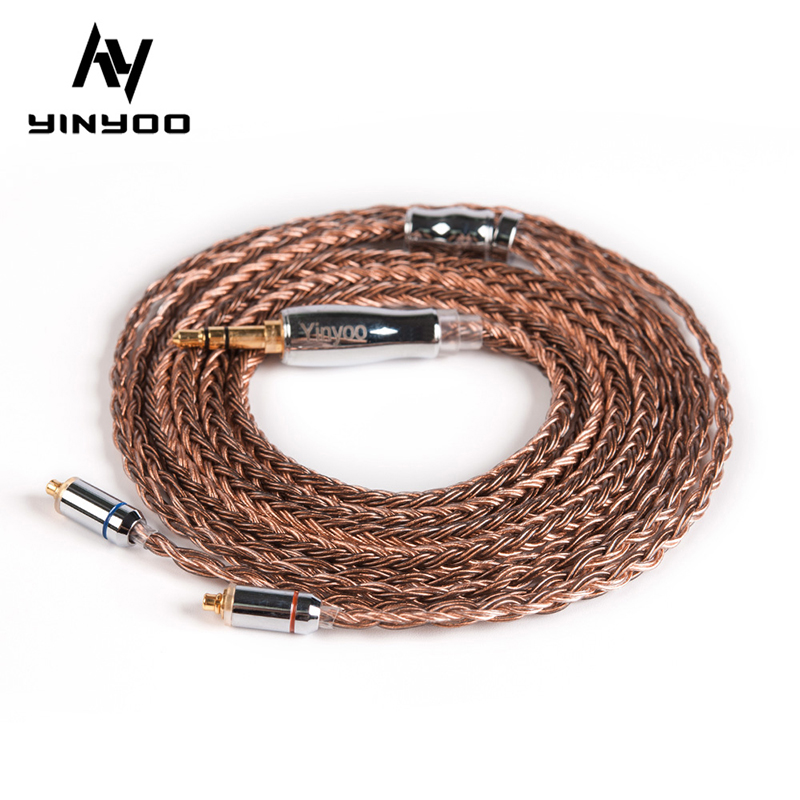 Yinyoo 16 Core High Purity Copper Cable 2 5 3 5 4 4MM with MMCX 2PIN QDC TFZ for KZZS10Pro ZSNPRO BA5 V90 BLON BL-03 BL-05 BL05