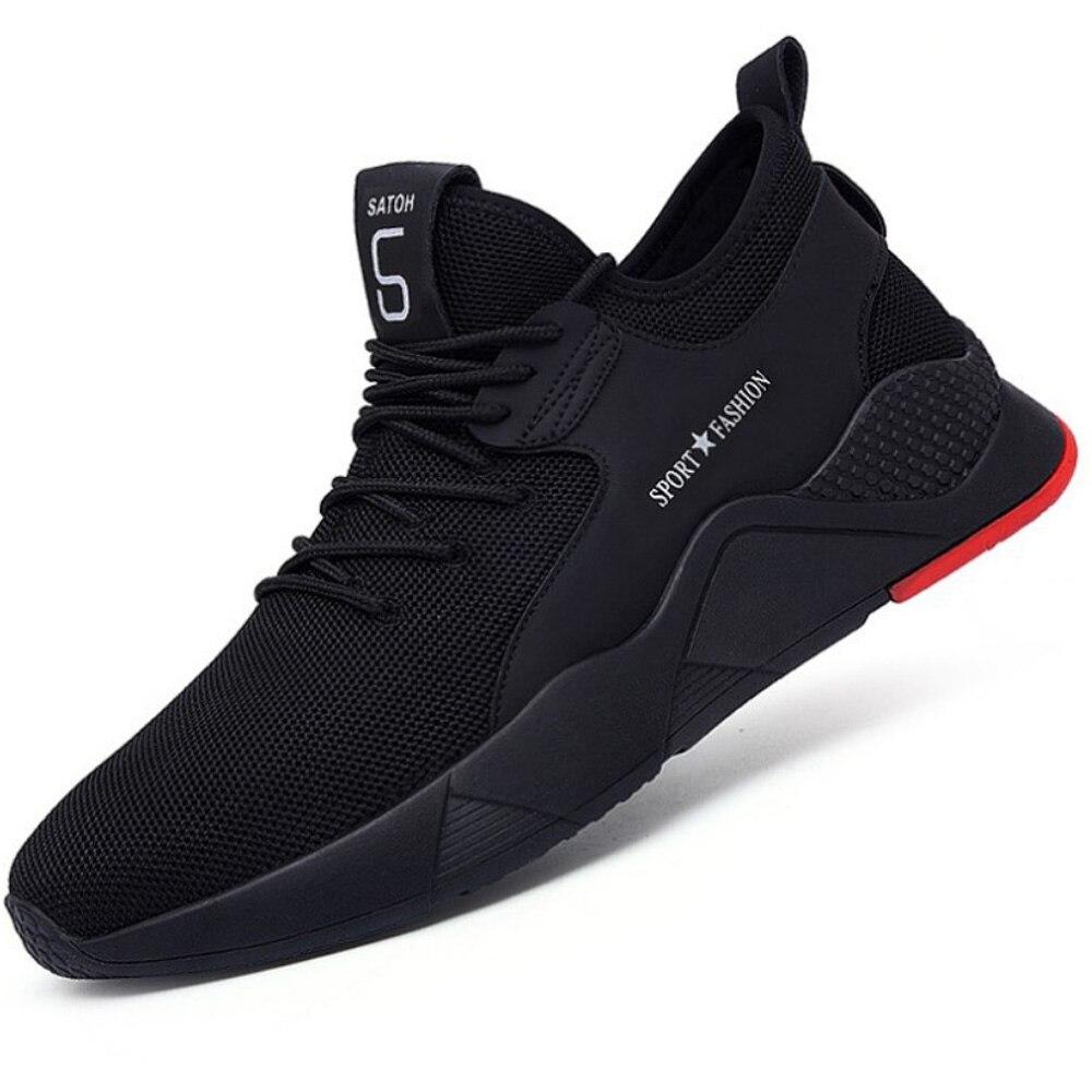 Рабочая безопасная обувь для женщин и мужчин; подходит для использования на открытом воздухе со стальным носком; противоскользящая защитная обувь с защитой от проколов - Цвет: Black