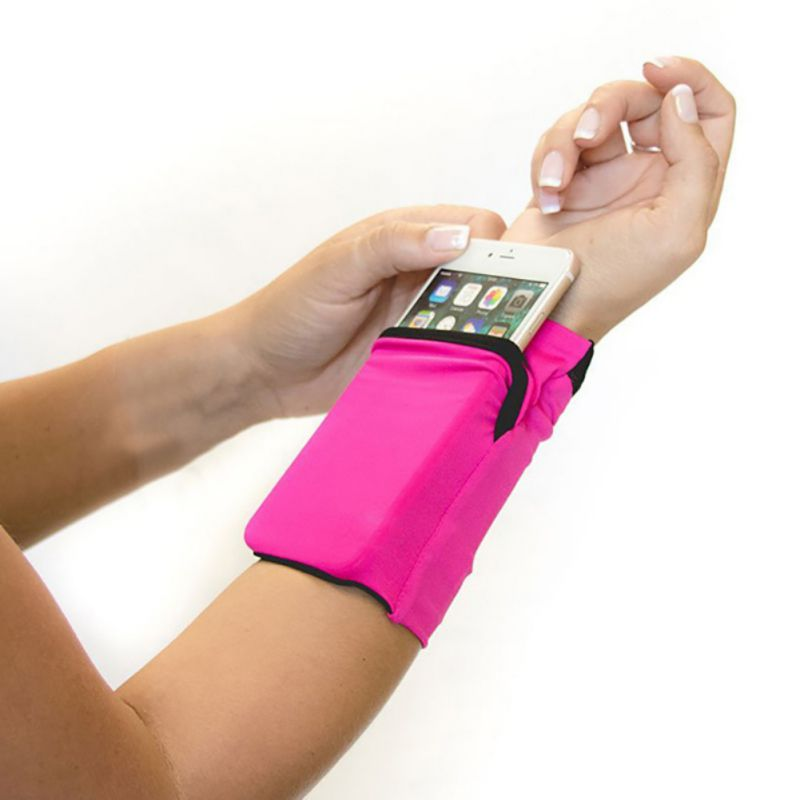 Arm Bag Ultra-thin Anti-slip Wristband Wrist Phone Pouch Holder Sports Bags For Fitness Running  Accessories