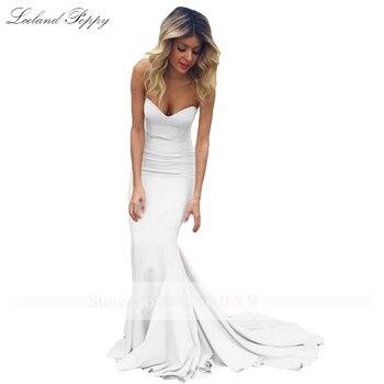 Lceland Poppy Strapless Mermaid Satin Evening Dresses Sleeveless Floor Length Formal Evening Gowns Sweep Train Robe de Soiree 5