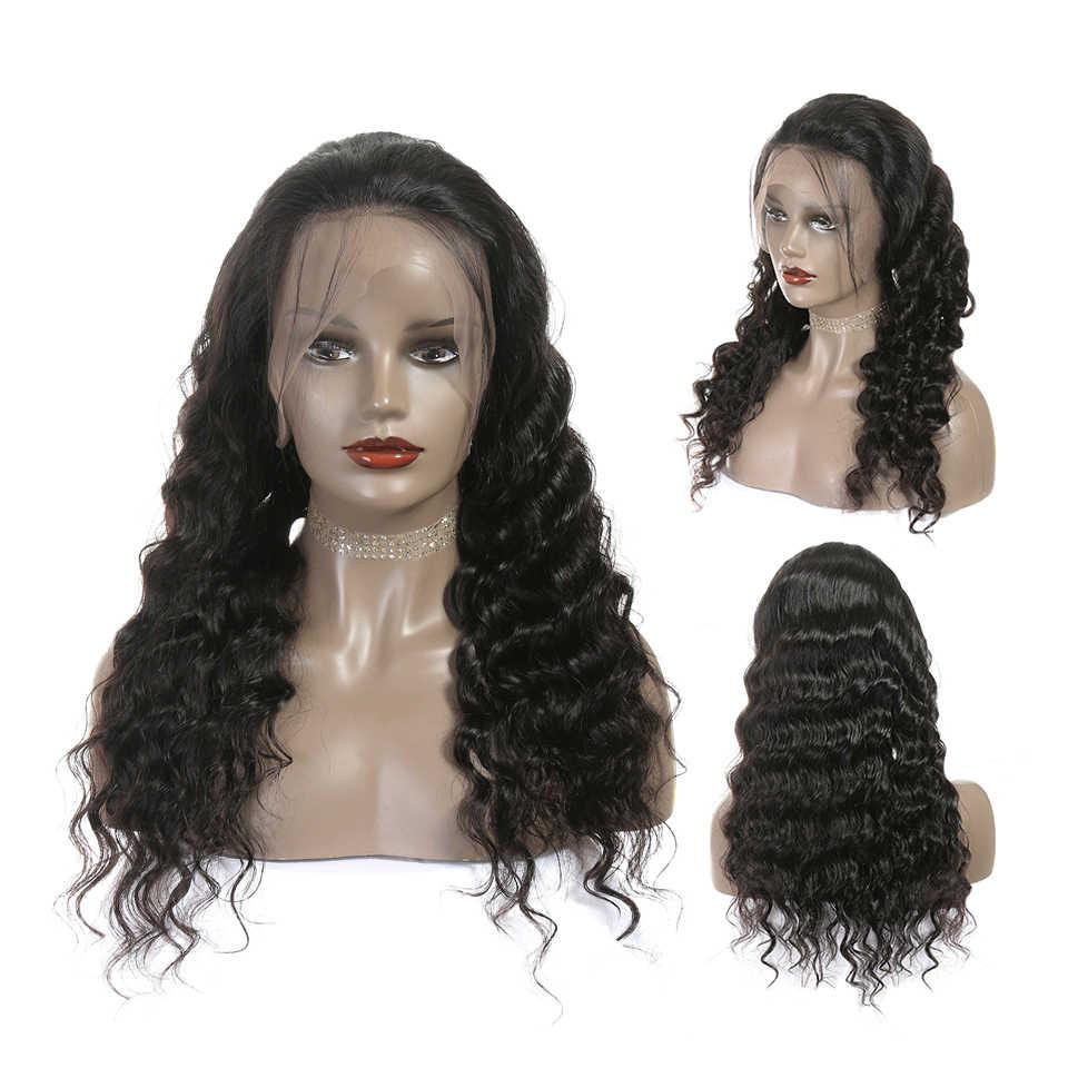 Ali Grace волосы на кружеве человеческие волосы парики для женщин бразильские свободные волнистые волосы remy парик с детскими волосами 180% 250% плотность