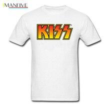 Logo Text Kiss T Shirt Heavy Metal Band Xxxtentacion Kanye West Rap Mens Fashion T-Shirt Saint Valentines Day Black Tshirts 3D