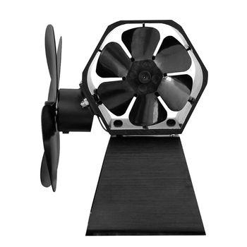 Вентилятор для камина, 4 лопасти, бесшумный вентилятор для большой комнаты