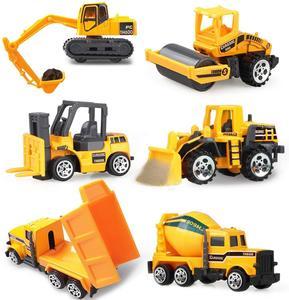 Coolplay Mini Alloy Diecast Car Model Engineering Toy Vehicles Dump Truck Forklift Excavator Model Car Mini Gift For Kids Boys
