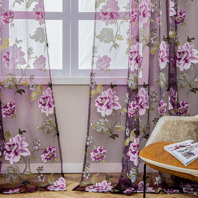 Floral Window Curtains 5