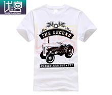 Massey Ferguson Tef Traktor Traktor Bulldog Oltimer T Hemd Einfache Kurzen Ärmeln Baumwolle T-Shirt Top T Vintage Crew Neck