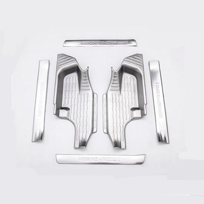 2015-2018 pour Toyota nouveau highlander seuils de porte décoration intérieure en acier inoxydable bienvenue pédale accessoires décoratifs