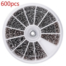 1Box (600pcs) 12 Kinds of Small Screws Nuts Assortment Kit M1 M1.2 M1.4 M1.6 Screw for Watches Glassess Repair Tools Tornillos