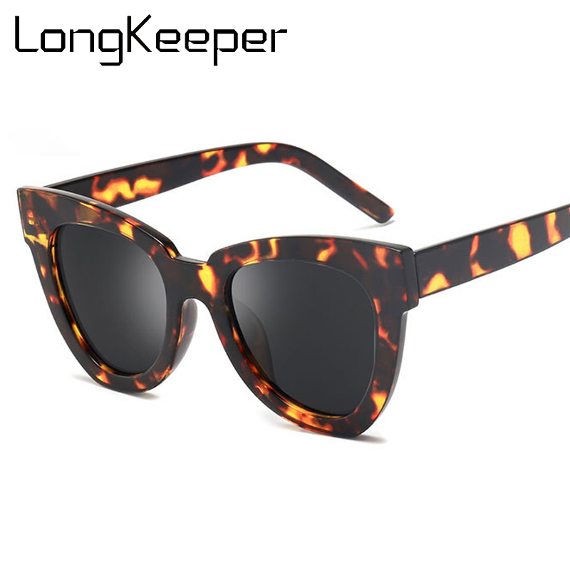 LongKeeper Fashion Cat Eye Sunglasses Women 2020 Luxury Brand Designer Vintage Sun Glasses Female Leopard Glasses Gafas De Sol