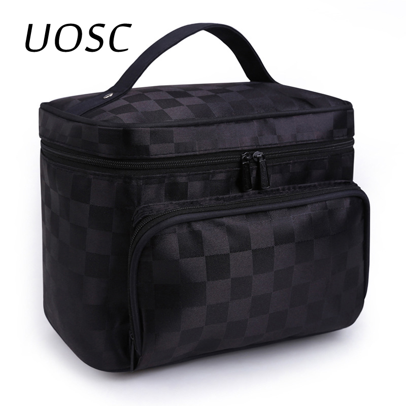 UOSC Women Cosmetic Bag Cosmetics Organizer Travel Necessaries Waterproof Makeup Bag Multifunction Toiletry Make Up Bag Bolsa